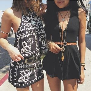 LF Embroidered Halter Top